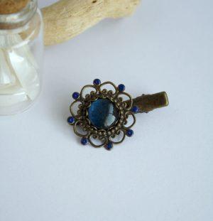 barrette bleu marine irise a